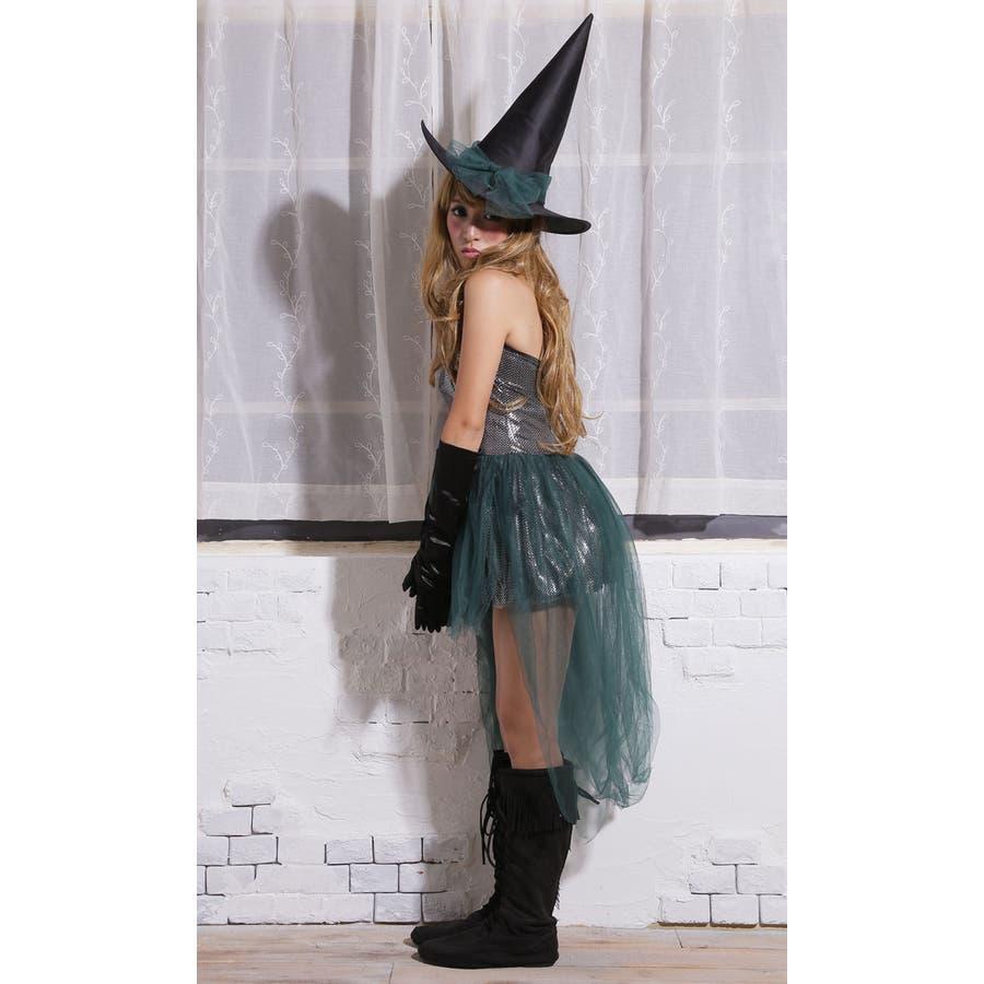 ハロウィン コスプレ ウィッチ 魔女 グリーン コスチューム 衣装 大きいサイズ 仮装 悪魔 仮装用 ハロウィーン ハロウインHALLOWEEN  6
