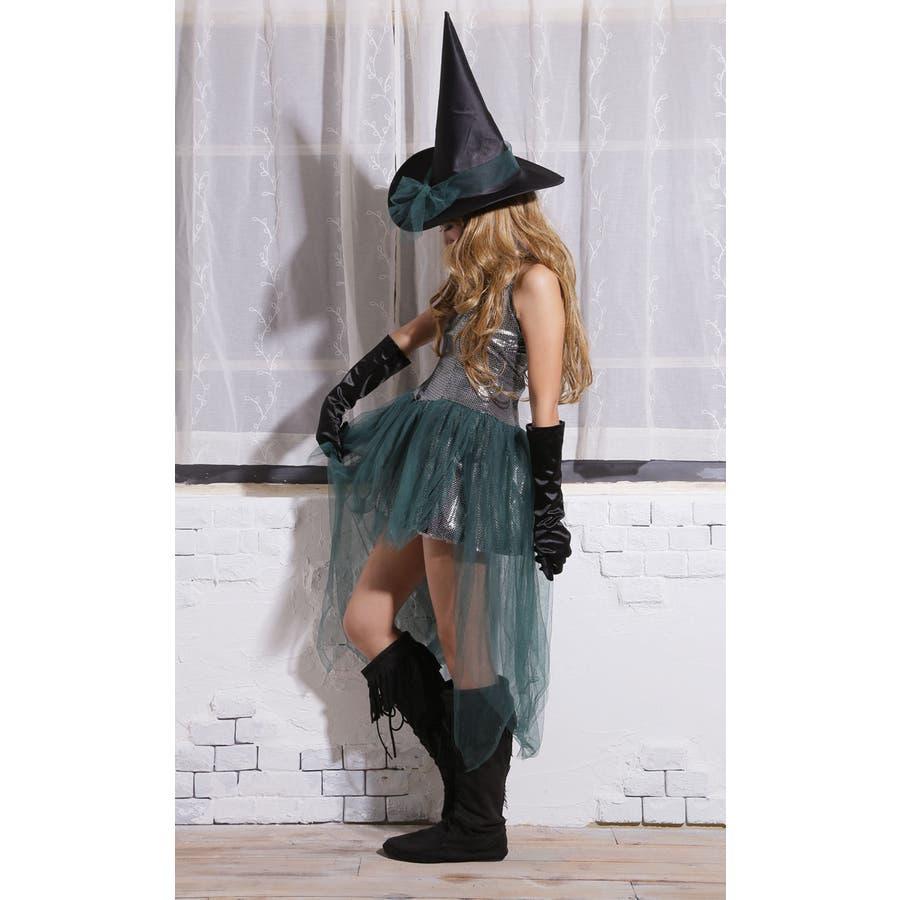 ハロウィン コスプレ ウィッチ 魔女 グリーン コスチューム 衣装 大きいサイズ 仮装 悪魔 仮装用 ハロウィーン ハロウインHALLOWEEN  7