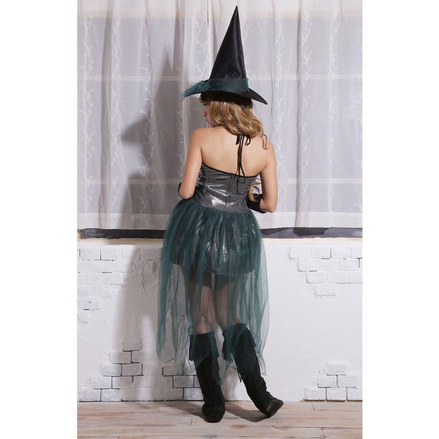 ハロウィン コスプレ ウィッチ 魔女 グリーン コスチューム 衣装 大きいサイズ 仮装 悪魔 仮装用 ハロウィーン ハロウインHALLOWEEN  8