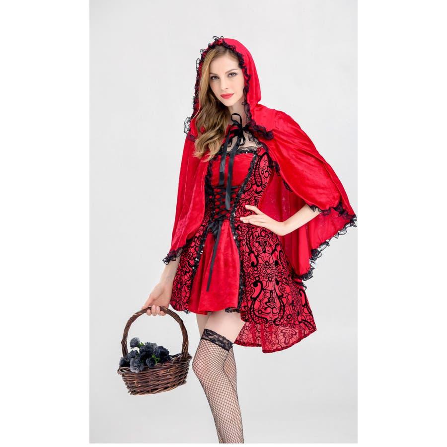 ハロウィン コスプレ 赤ずきん 赤色フードの女の子 サンタ コスチューム 衣装 仮装 ウィッチ 魔女 仮装用 クリスマス パーティーグッズ ハロウィーン ハロウイン HALLOWEEN   6