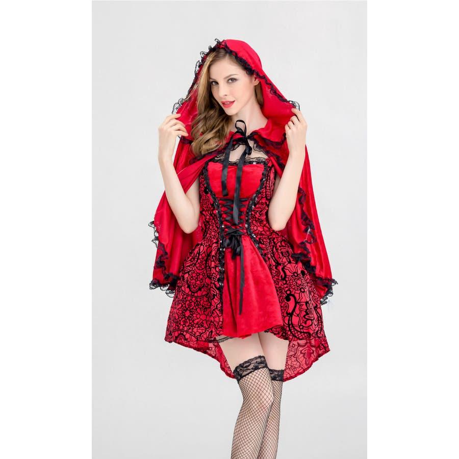 ハロウィン コスプレ 赤ずきん 赤色フードの女の子 サンタ コスチューム 衣装 仮装 ウィッチ 魔女 仮装用 クリスマス パーティーグッズ ハロウィーン ハロウイン HALLOWEEN   7