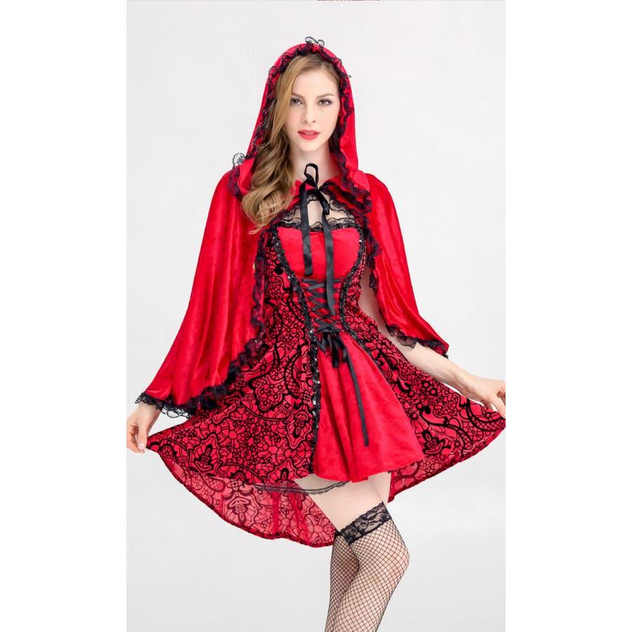 ハロウィン コスプレ 赤ずきん 赤色フードの女の子 サンタ コスチューム 衣装 仮装 ウィッチ 魔女 仮装用 クリスマス パーティーグッズ ハロウィーン ハロウイン HALLOWEEN   8
