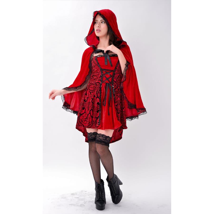 ハロウィン コスプレ 赤ずきん 赤色フードの女の子 サンタ コスチューム 衣装 仮装 ウィッチ 魔女 仮装用 クリスマス パーティーグッズ ハロウィーン ハロウイン HALLOWEEN   10
