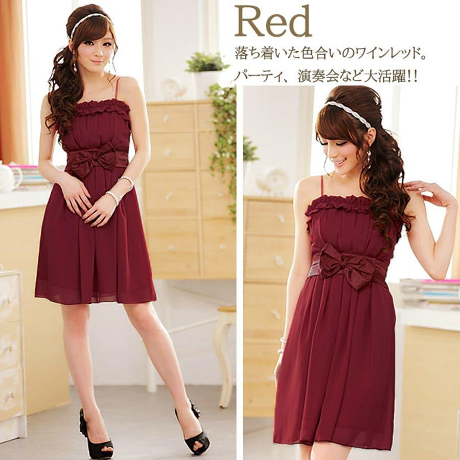 パーティードレス Party dress大きいサイズ パーティードレス 赤 ワンピース 結婚式 服装 冬パーティドレス