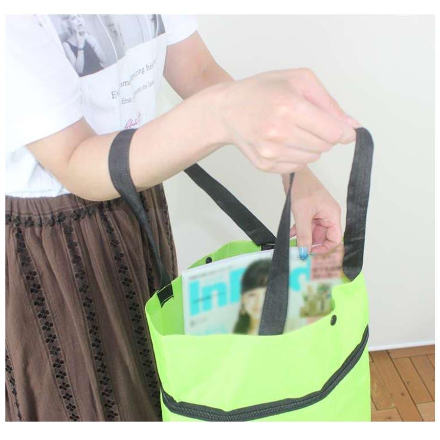 ショッピングカート ショッピングバッグ 折りたたみ エコバッグ おしゃれ キャリーバッグ キャスター 軽量 コンパクト簡易バッグコマ付 旅行 買い物 5