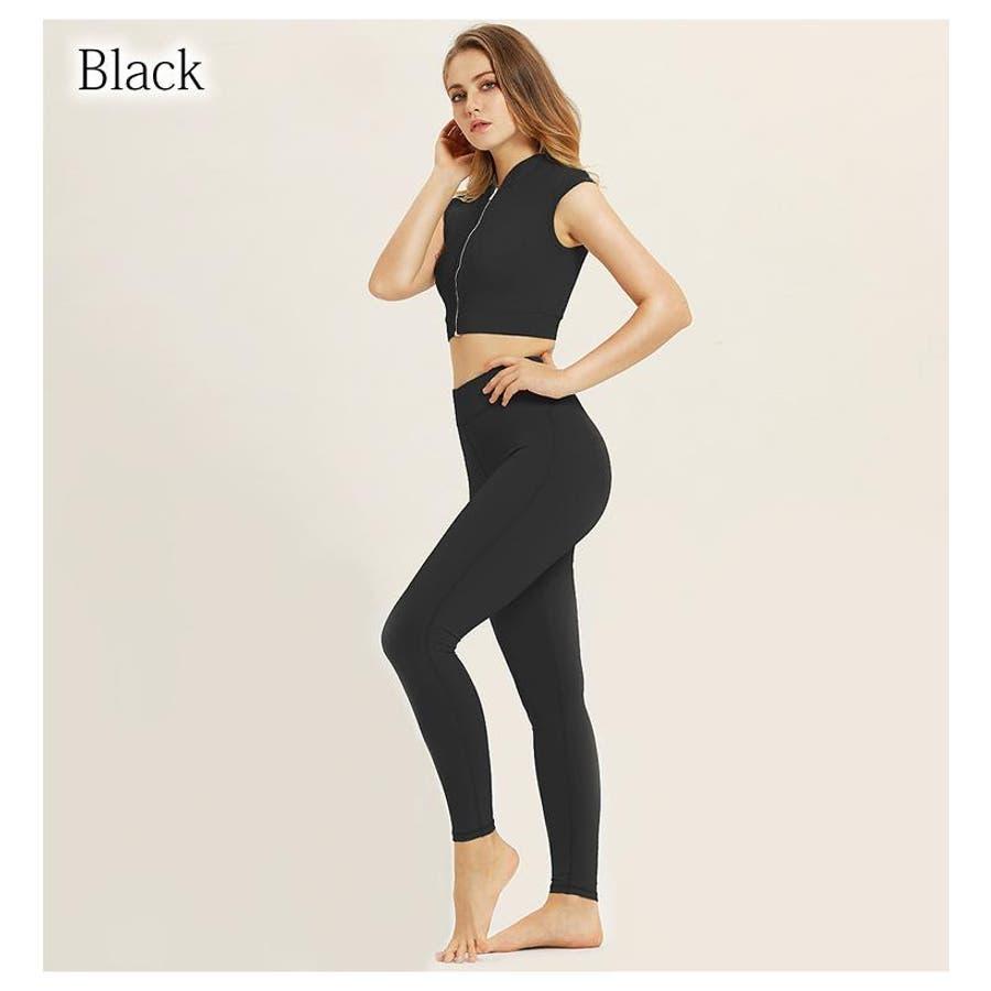 ヨガウェア 上下セット レディース トップス ヨガ レギンス 半袖 セット ホットヨガ tシャツ フィットネスウェア ウエアおしゃれかわいい 大きいサイズ シンプル 黒 ブラック ピンク ミント 無地 S M L HappyCloset 21