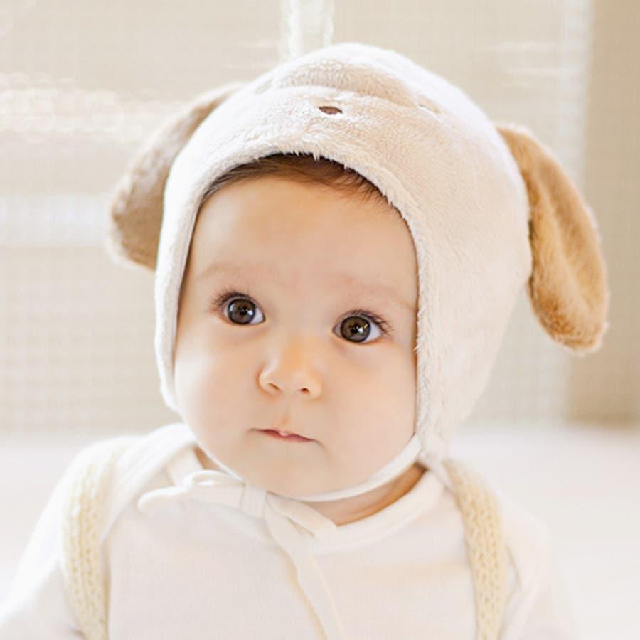 dac059b873c アニマル耳ふわもこ赤ちゃん帽子□ビションパイロット☆ヘアバンド、赤ちゃん帽子、
