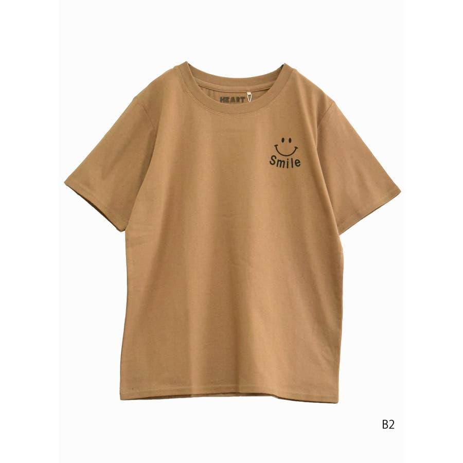 heartプリントTEE<br>レディース トップス 半袖 Tシャツ コットン M L ハート heart 102