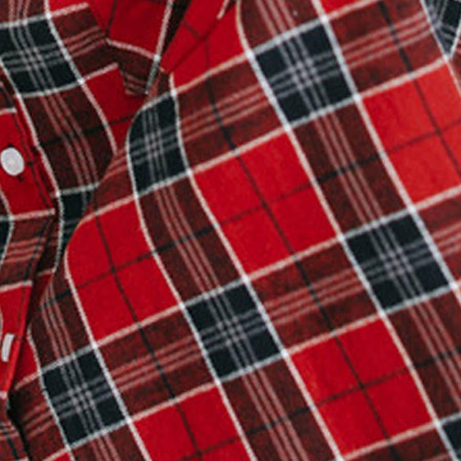 チェックシャツ タータンチェック 柄シャツ 長袖 綿 レッド ベージュトップス シャツ ブラウス レディース 婦人服 女性 大人おしゃれ カジュアル 楽ちん かわいい 大きいサイズ 秋 新作_top-6861 5