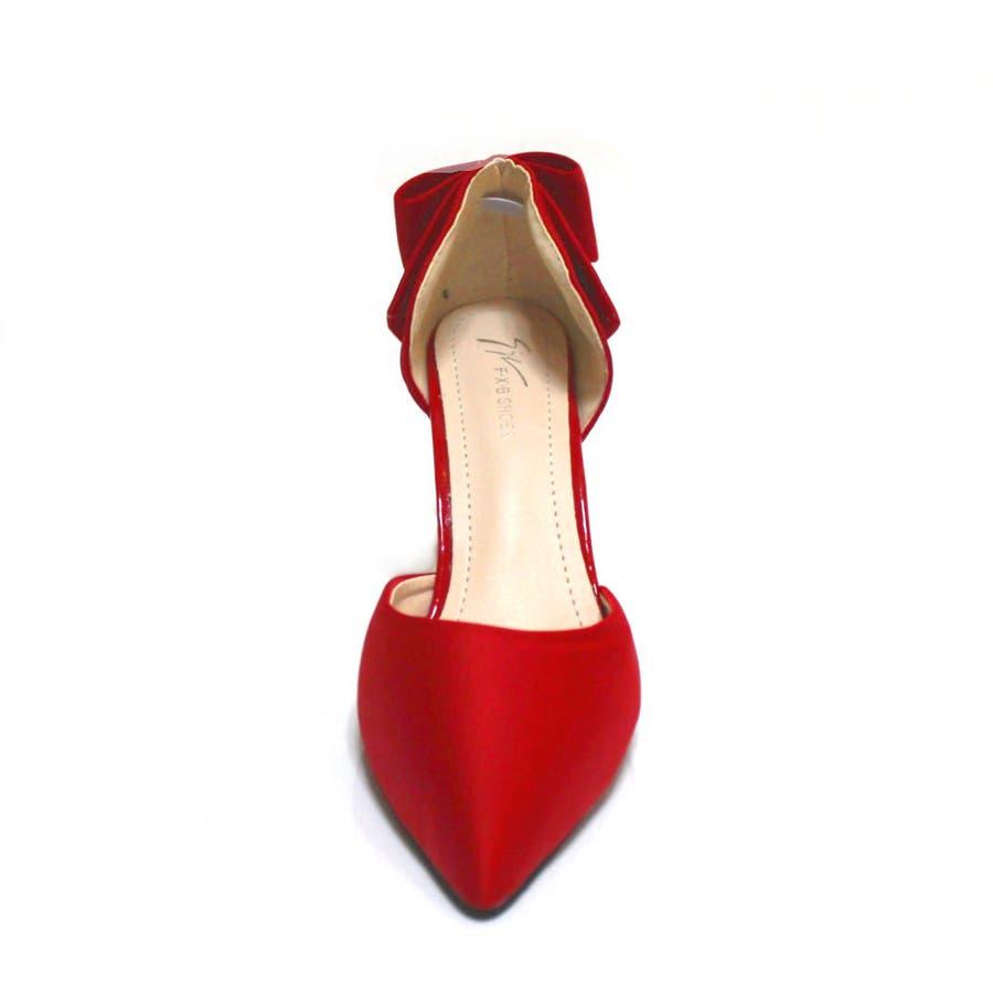 パンプス ヒール ピンヒール リボン ポインテッドトゥ ポインテッド パーティー 結婚式 ベーシック シンプル シューズ 靴レディース 6