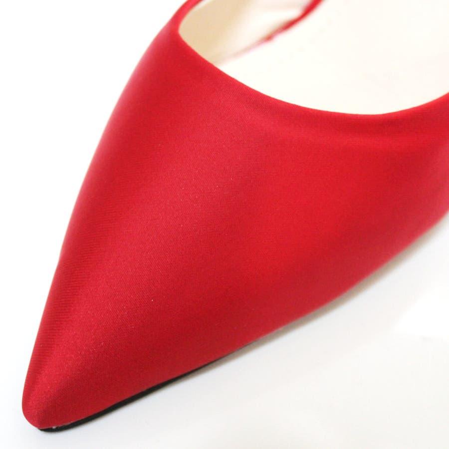 パンプス ヒール ピンヒール リボン ポインテッドトゥ ポインテッド パーティー 結婚式 ベーシック シンプル シューズ 靴レディース 9