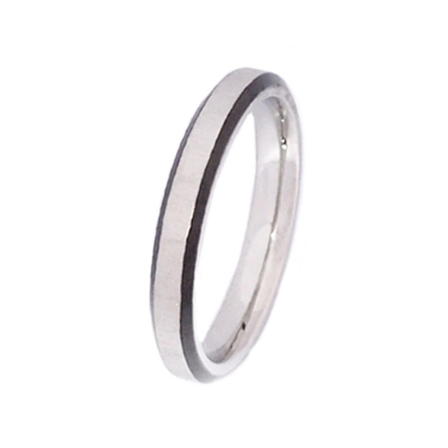 316Lサージカルステンレス シンプルカラーラインリング 【ペア リング 指輪 ネックレス ステンレス シルバー ギフトプレゼント