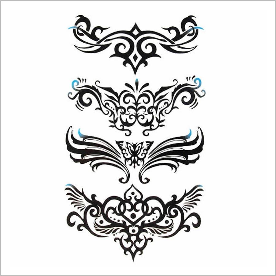 タトゥーシールデザイントライバル 【halloween ハロウィン イベント Tattooシール ボディペイント ボディーシール アクセサリー メンズ レディース】 品番