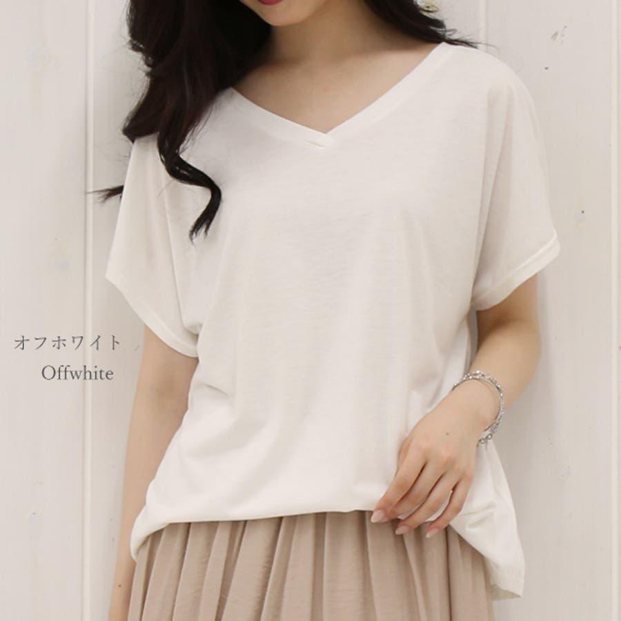 全10色から選べるゆったりチュニックカットソー M L Tシャツ ゆるTシャツ レディース 秋先行 6