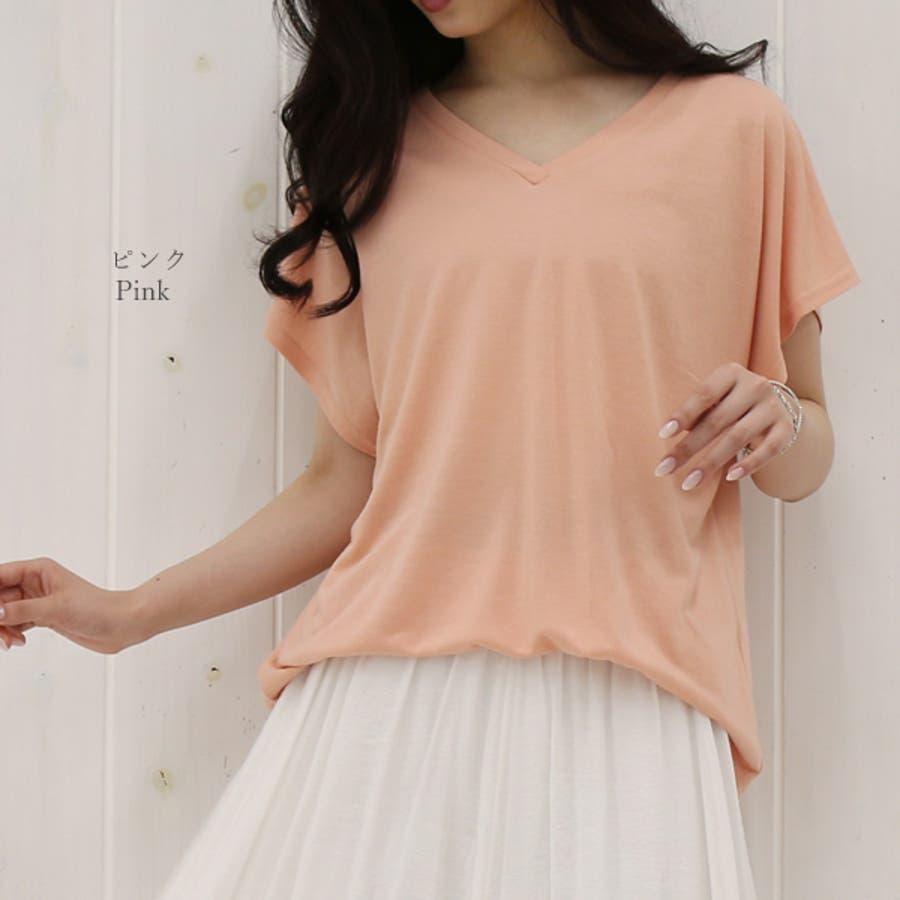 全10色から選べるゆったりチュニックカットソー M L Tシャツ ゆるTシャツ レディース 秋先行 8