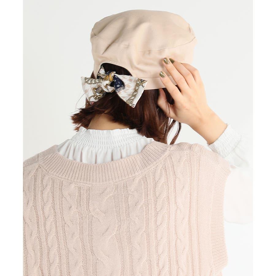 【COLZA(コルザ)】帽子 キャスケット レディース リボン スカーフ おしゃれ 可愛い 春 夏 秋 冬 新作 Honeysハニーズ バックリボンキャスケット 41