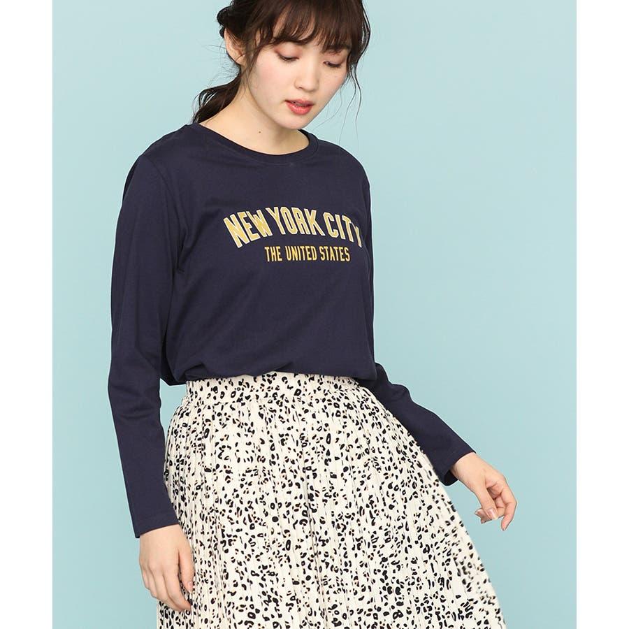 【ハニーズ】チュニック丈ロゴTシャツ 64