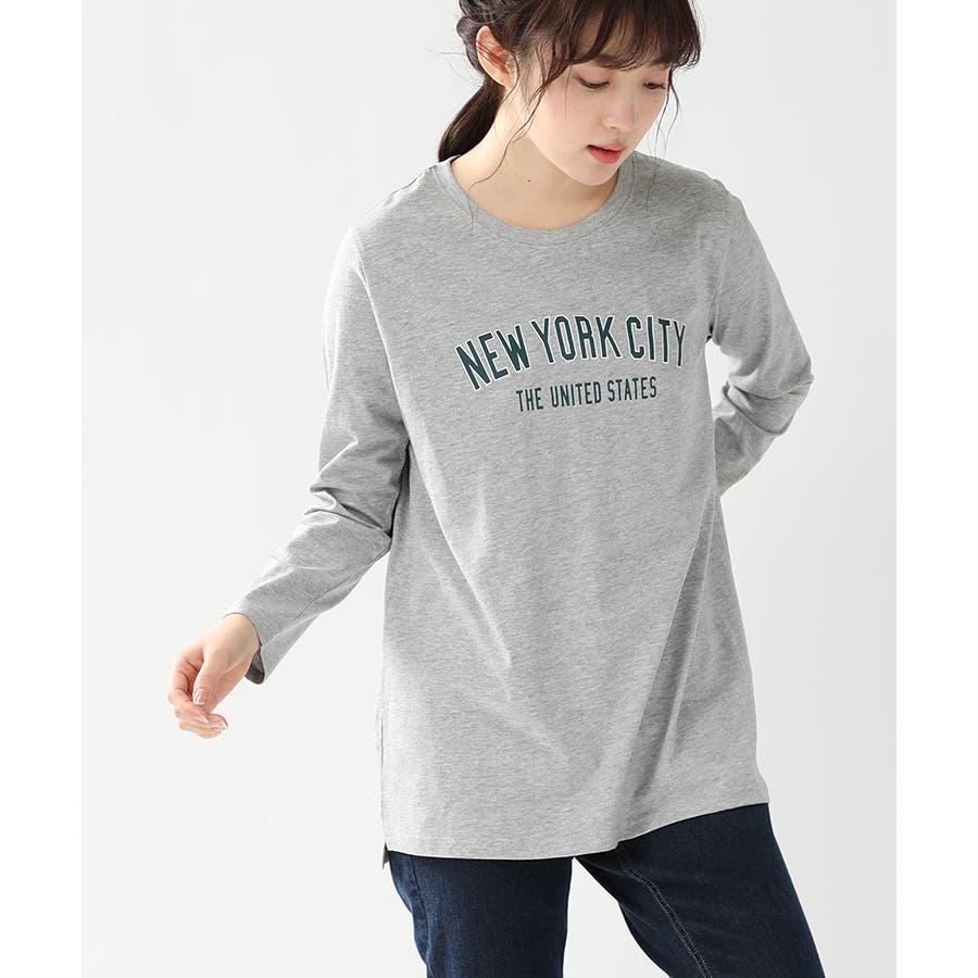 【ハニーズ】チュニック丈ロゴTシャツ 23