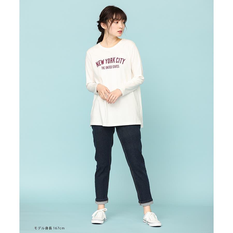 【ハニーズ】チュニック丈ロゴTシャツ 8