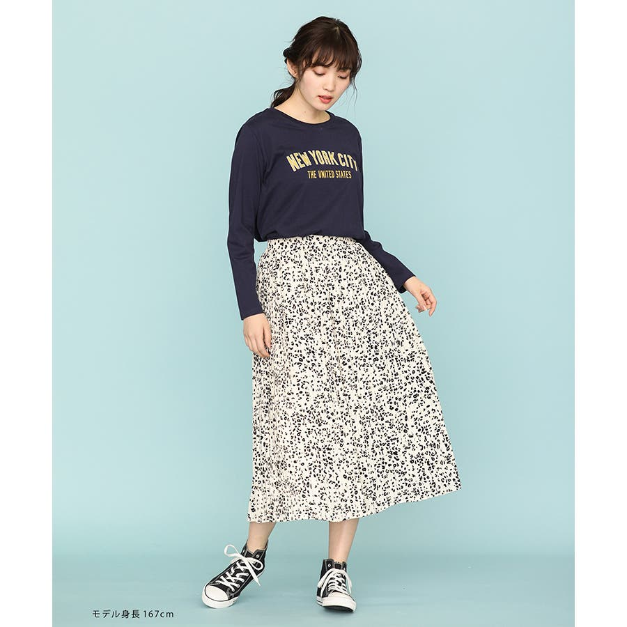 【ハニーズ】チュニック丈ロゴTシャツ 10