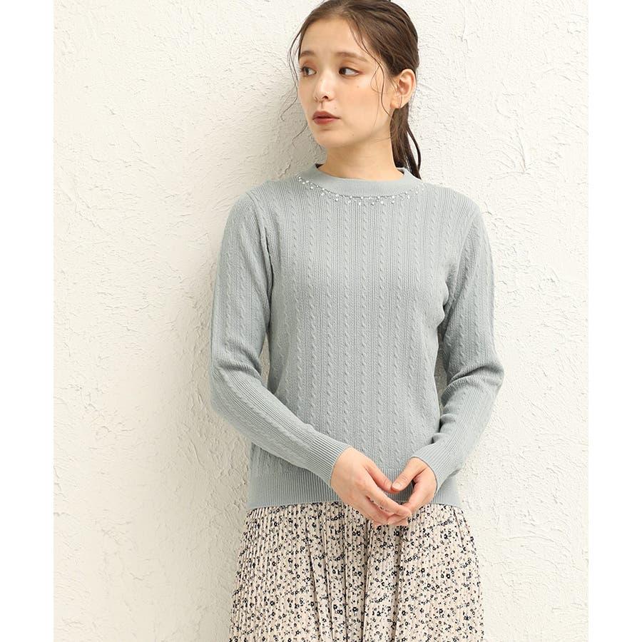 【ハニーズ】ビジュー付ハイネック 50