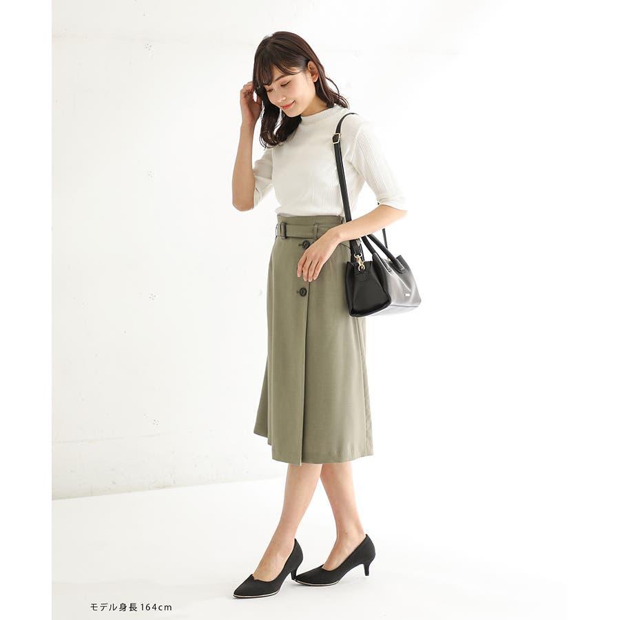 【ハニーズ】釦使いフレアスカート 8