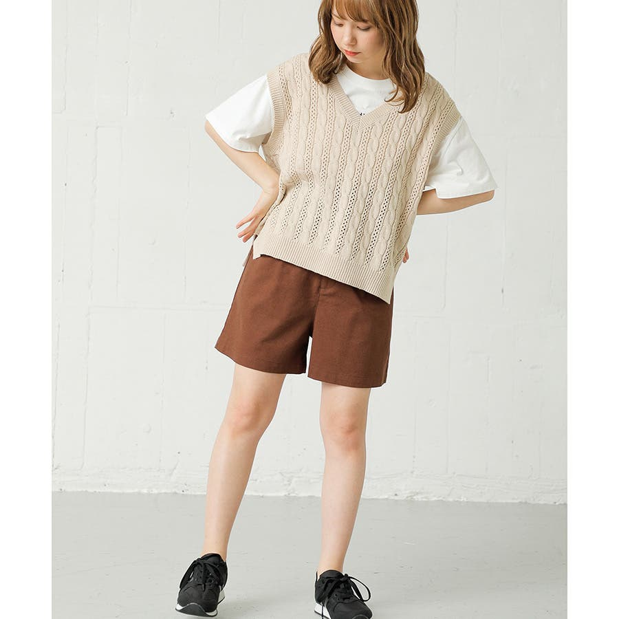 【ハニーズ】共ベルト付ショートパンツ 29