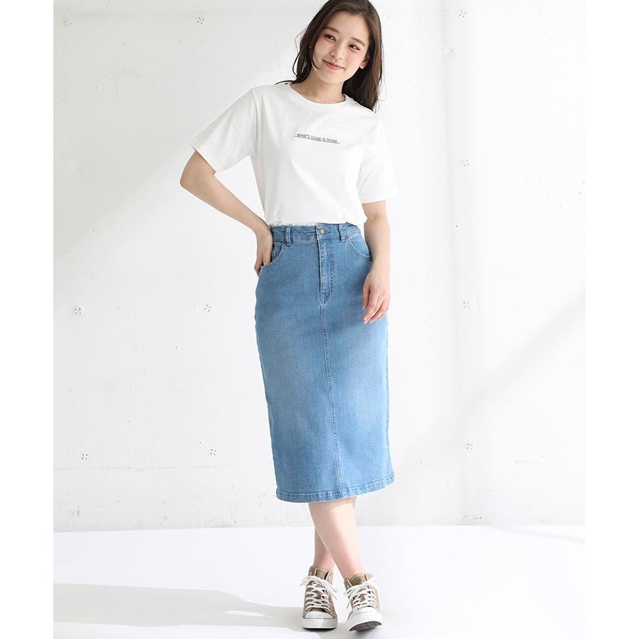 【ハニーズ】半袖ロゴ刺繍Tシャツ 20