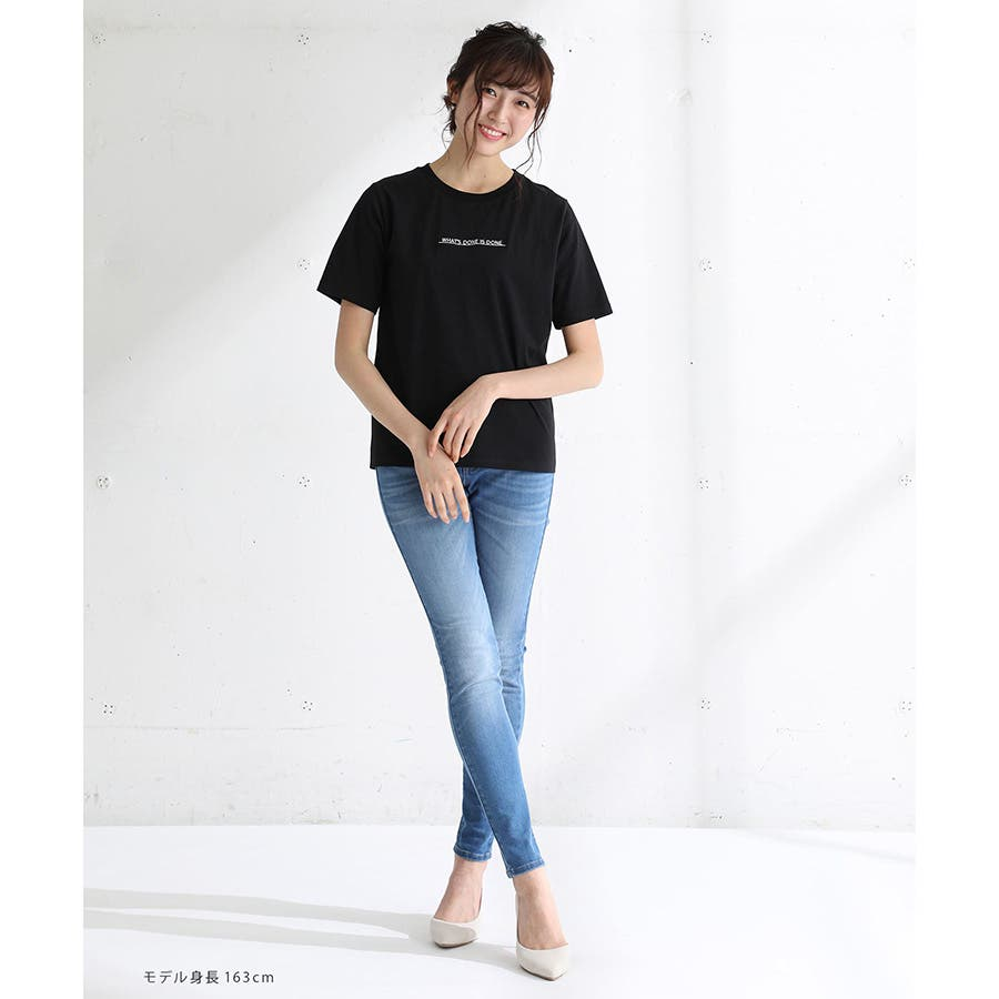 【ハニーズ】半袖ロゴ刺繍Tシャツ 10