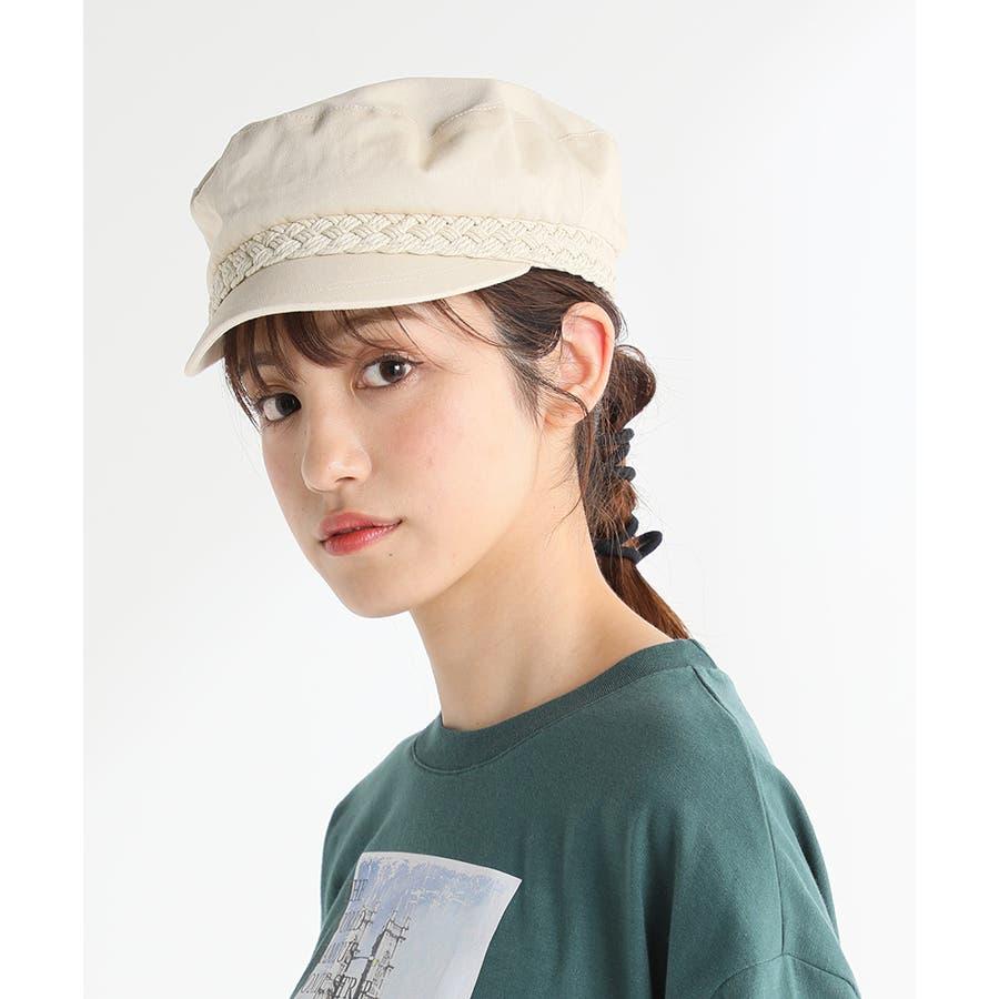 【COLZA(コルザ)】帽子 キャップ レディース 夏 おしゃれ マリンキャップ 麻調 カジュアル サイズ調整 Honeys ハニーズマリンキャップ 41