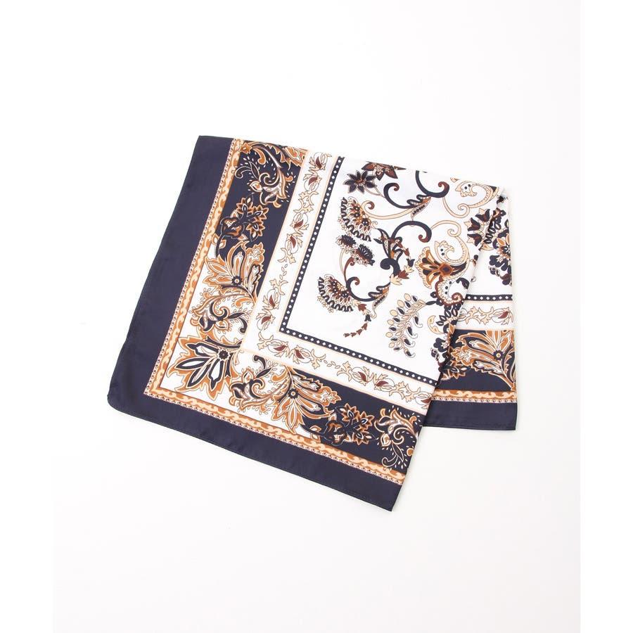 【COLZA(コルザ)】スカーフ 正方形 レディース おしゃれ チェーン柄 水玉 ドット エスニック柄 春 夏 秋 冬 夏新作Honeys ハニーズ スカーフ 9