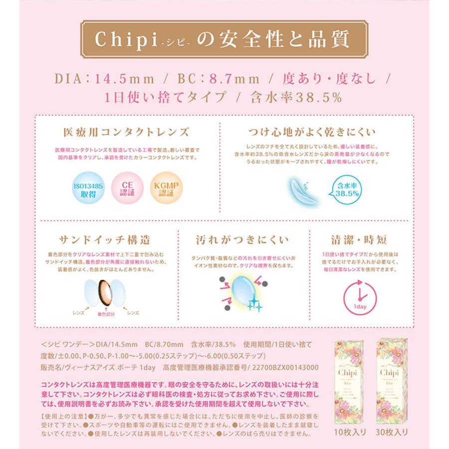 度あり10枚 ロワールブラウン シピワンデー Chipi 1day DIA:14.5mm 八鍬里美(さとみん) ワンデー カラコンカラーコンタクトレンズ 10