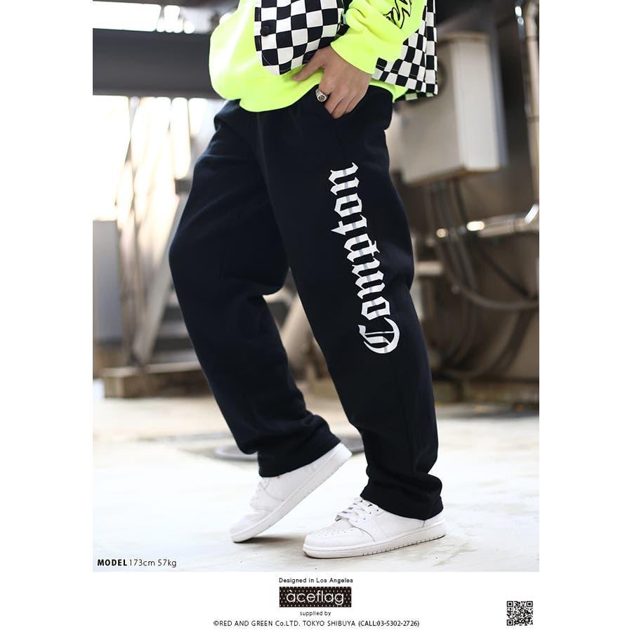 スウェットパンツ AF-LP-SW-009 エースフラッグ ACEFLAG イージーパンツ ロングパンツ 長ズボン メンズ レディース春夏秋冬用 黒 M L XL 2L LL 2XL 3L XXL 大きいサイズ b系 ヒップホップ ストリート系 ファッション ブランド服 ギフト 4