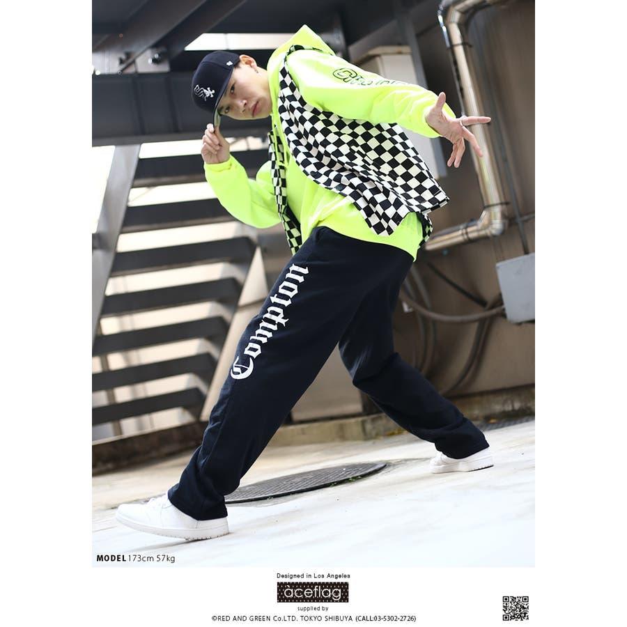 スウェットパンツ AF-LP-SW-009 エースフラッグ ACEFLAG イージーパンツ ロングパンツ 長ズボン メンズ レディース春夏秋冬用 黒 M L XL 2L LL 2XL 3L XXL 大きいサイズ b系 ヒップホップ ストリート系 ファッション ブランド服 ギフト 5