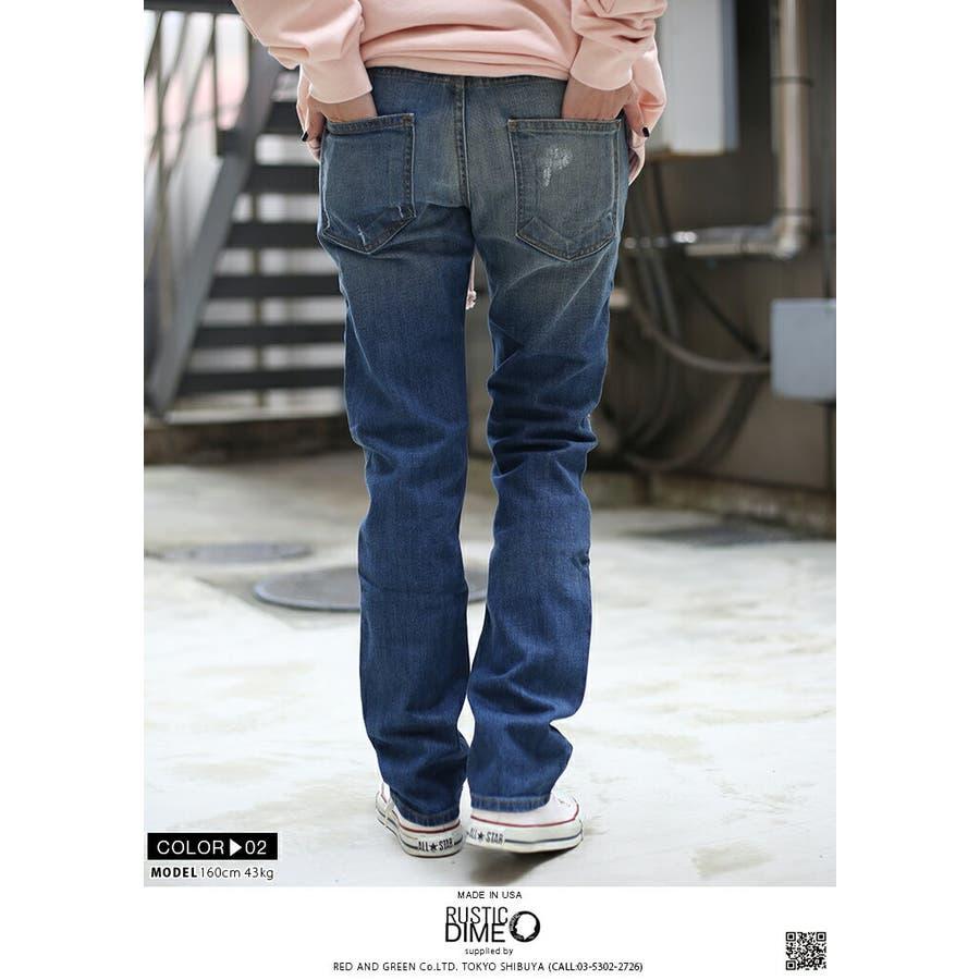 ジーンズ DS215 ラスティックダイム RUSTIC DIME デニム ロングパンツ スリムフィット ジーパン Gパン ワーク長ズボン メンズ レディース 春夏秋冬用 ベージュ インディゴブルー b系 ヒップホップ ストリート系 ファッション ブランド 服ギフト 10