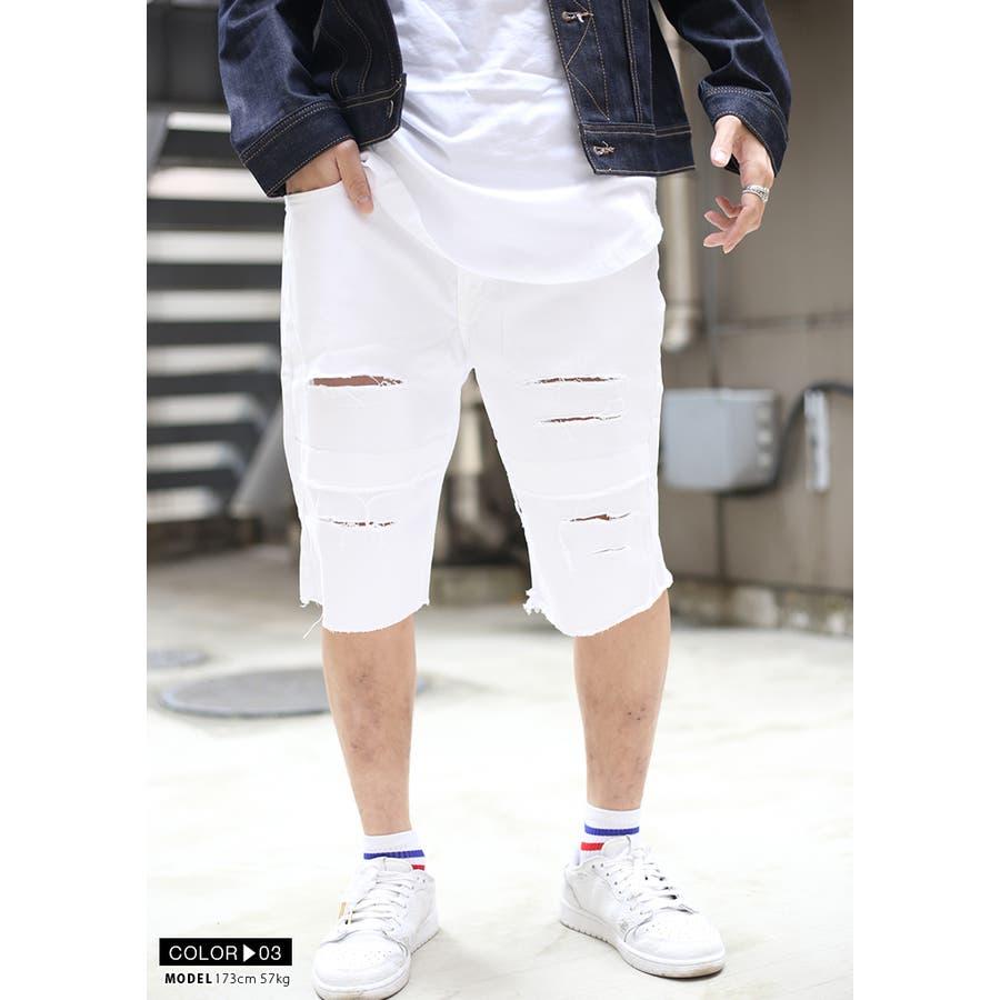 ハーフパンツ デニム DS135 ラスティックダイム RUSTIC DIME ショートパンツ ショーツ 半ズボン メンズ レディース春夏秋冬用 黒 インディゴブルー 白 オリーブ 00000 b系 ヒップホップ ストリート系 ファッション ブランド 服 ギフト 8