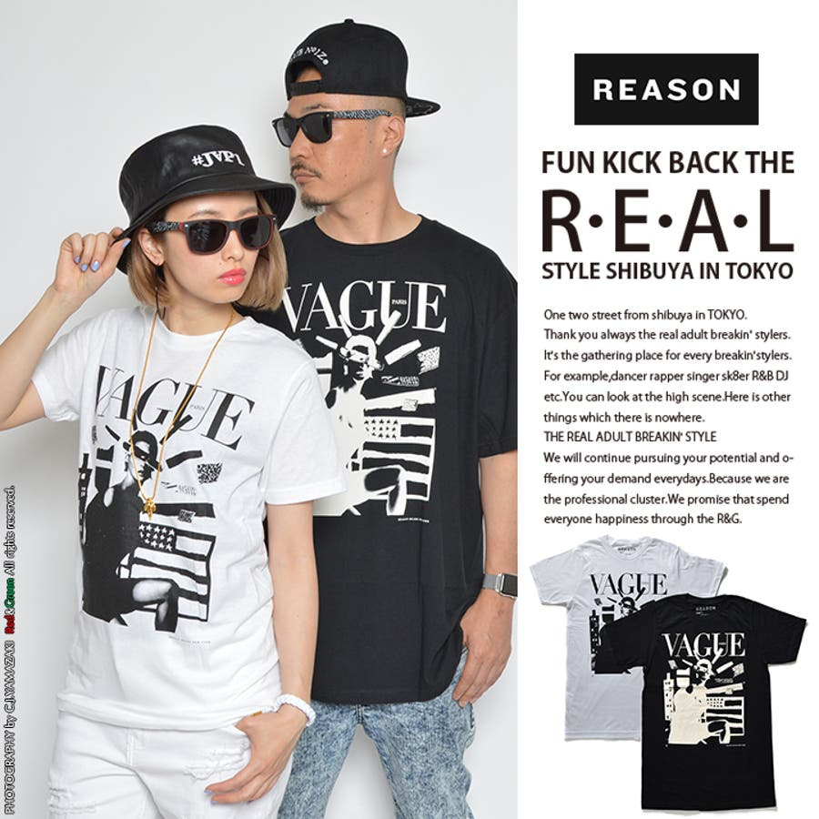 【RE15,97045】 Tシャツ ≪VAGUE≫ REASONリーズン 半袖 クルーネック ファッション