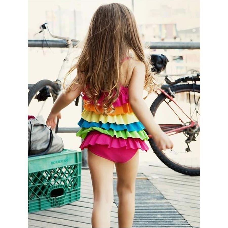 20a0b512fe7 キッズ水着、水着 ワンピース、子供水着、女の子、6層フリル可愛さ満載/M ...