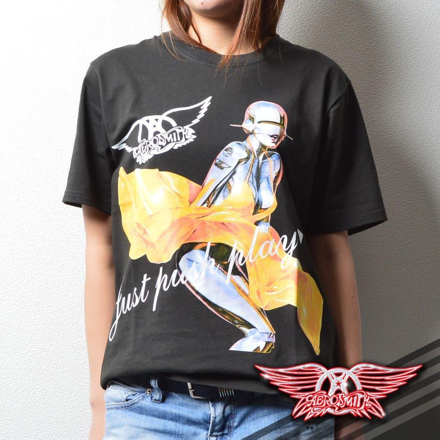 レディースファッション 通販 ユニセックス人気 カジュアルバンドTシャツ バンT エアロスミスTシャツ