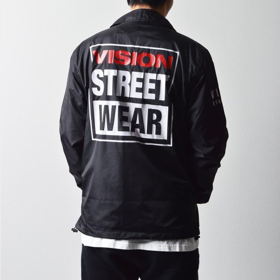 メンズファッション通販 人気 VISION STREET WEAR ヴィジョンストリートウェア バックプリント VISIONアウター VISIONコーチ