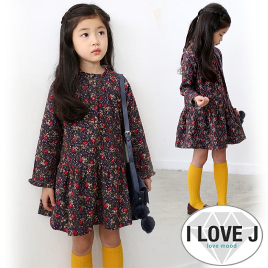 なかなかgoodです 花咲くワンピース ワンピ 韓国子供服 キッズ 子供服 SNAP 女の子 ミモレ 90cm 100cm 110cm 120cm 130cm 140cm 150cm 極熱