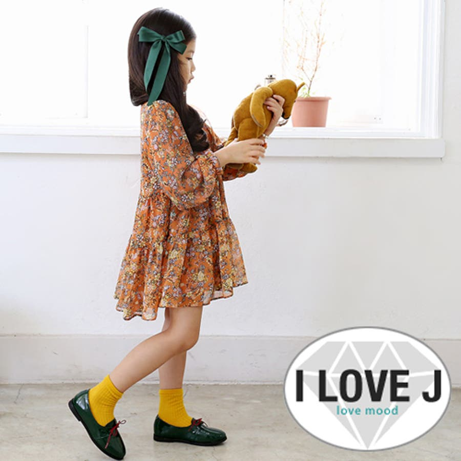 ロリータフラワーワンピース 秋 韓国子供服 キッズ 大きいサイズ有り 女の子 90cm 100cm 110cm 120cm 130cm 140cm 150cm 威圧