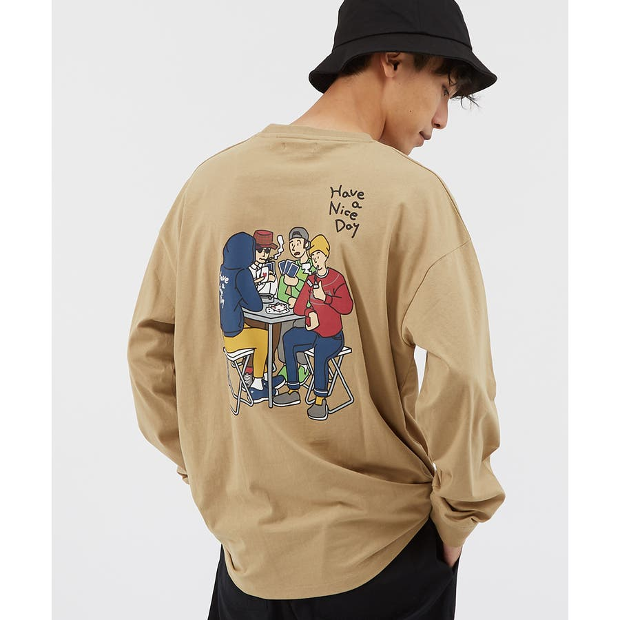 Tシャツ メンズ レディース ビッグTシャツ 長袖 グラフィック プリントTシャツ クルーネック ビッグシルエット オーバーサイズゆったり 大きいサイズ ロンT カットソー 黒 白 ストリート系 ストリートファッション 韓国ファッション improves 41