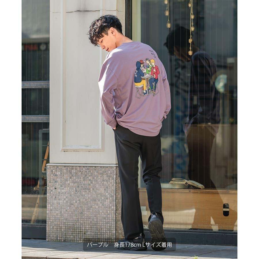 Tシャツ メンズ レディース ビッグTシャツ 長袖 グラフィック プリントTシャツ クルーネック ビッグシルエット オーバーサイズゆったり 大きいサイズ ロンT カットソー 黒 白 ストリート系 ストリートファッション 韓国ファッション improves 3