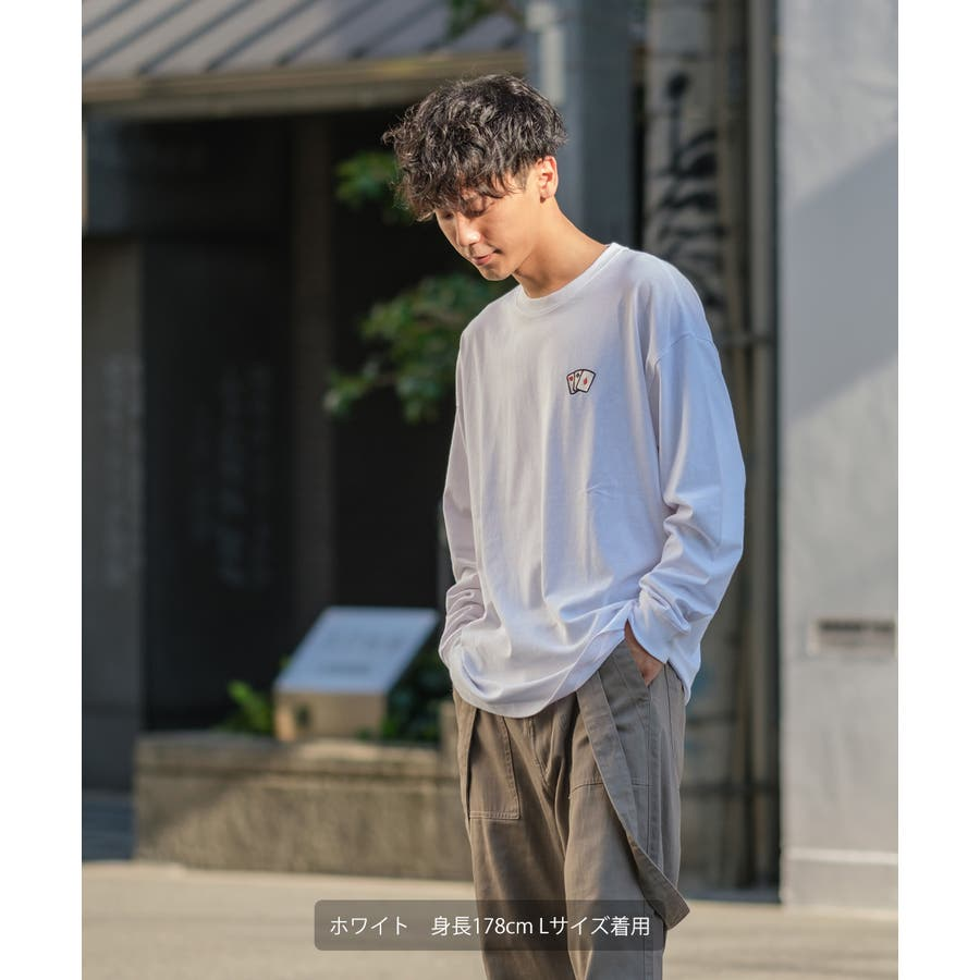 Tシャツ メンズ レディース ビッグTシャツ 長袖 グラフィック プリントTシャツ クルーネック ビッグシルエット オーバーサイズゆったり 大きいサイズ ロンT カットソー 黒 白 ストリート系 ストリートファッション 韓国ファッション improves 4