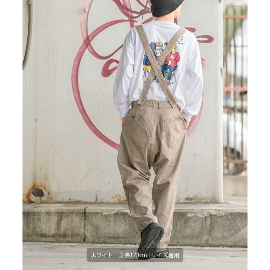 Tシャツ メンズ レディース ビッグTシャツ 長袖 グラフィック プリントTシャツ クルーネック ビッグシルエット オーバーサイズゆったり 大きいサイズ ロンT カットソー 黒 白 ストリート系 ストリートファッション 韓国ファッション improves 5