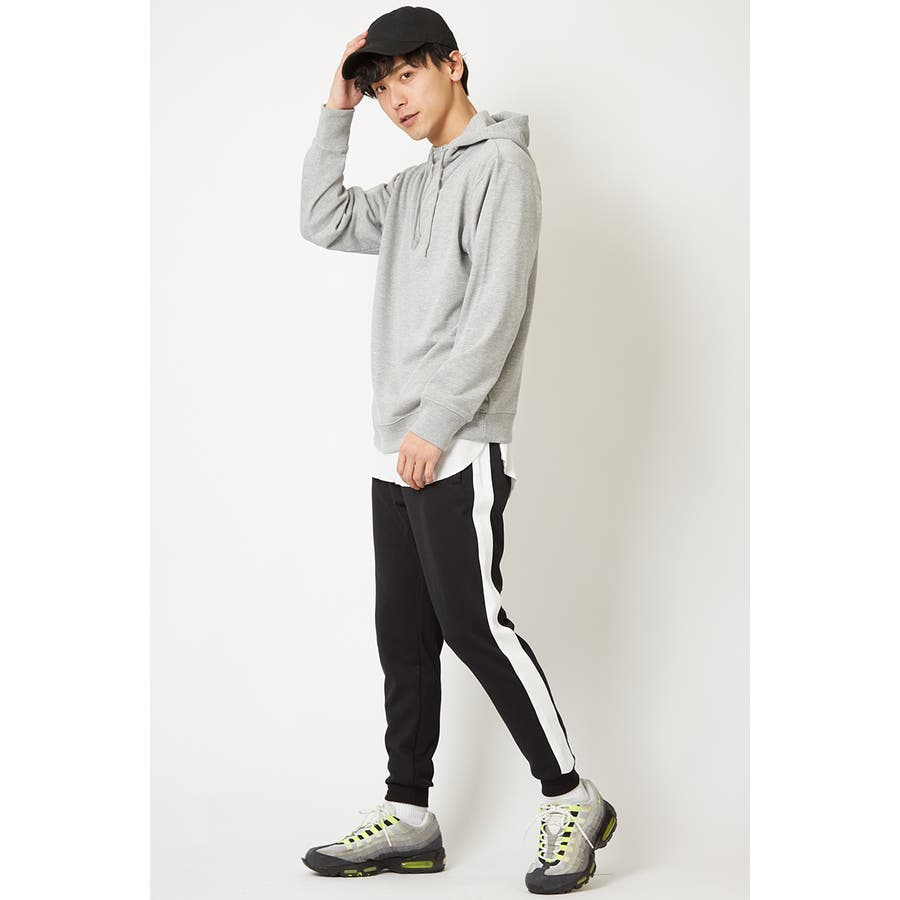 ラインパンツ メンズ レディース 黒 ダンス 韓国 ファッション サイドライン パンツ ジャージ スウェットパンツスエットパンツブラック グレー 白 improves 4