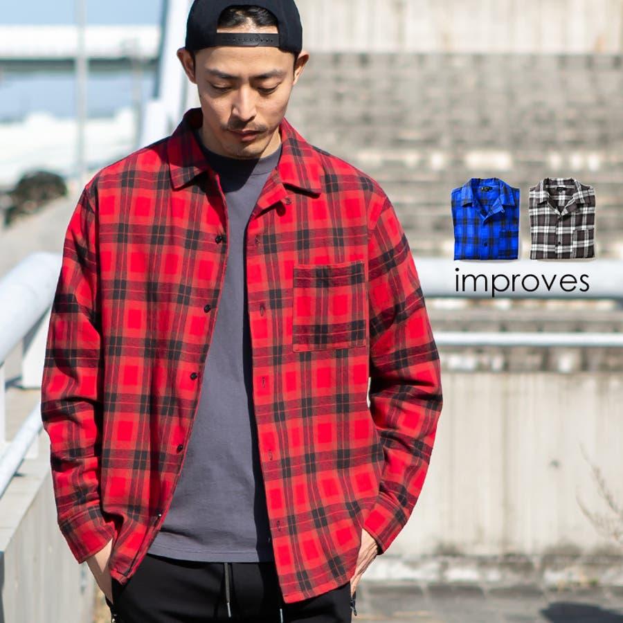 チェックシャツ メンズ 韓国 1