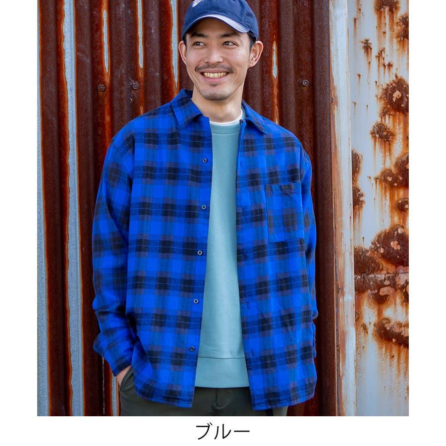 チェックシャツ メンズ 韓国 2