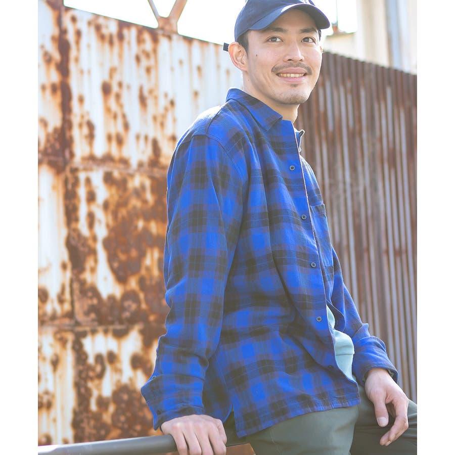 チェックシャツ メンズ 韓国 4